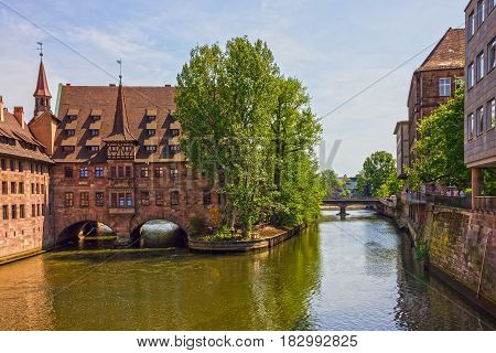Nuremberg historical house in Bavaria, Germany, Europe