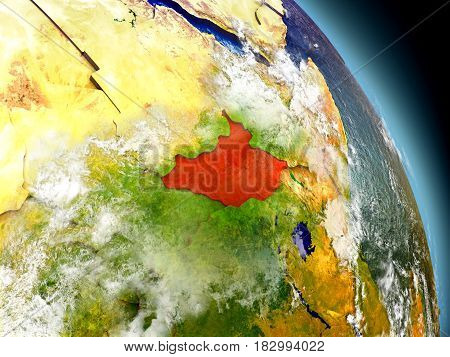 South Sudan From Space