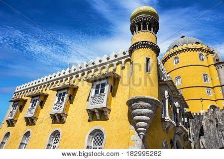 Pena National Palace. Palacio Nacional da Pena, Sintra Portugal.