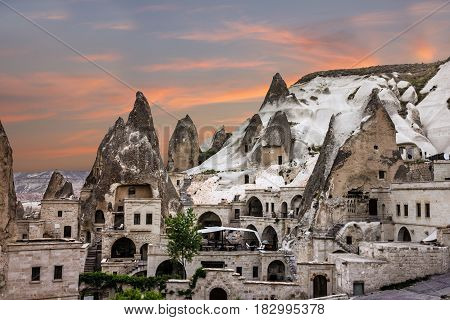 Cappadocia, Anatolia, Turkey. Open air museum Goreme national park.