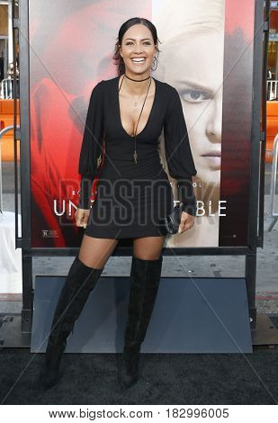 Tristin Mays at the Los Angeles premiere of 'Unforgettable' held at the TCL Chinese Theatre in Hollywood, USA on April 18, 2017.
