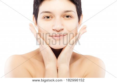 Girl With A Short Hair Portrait