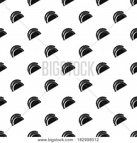 Empanadas de pollo pattern seamless in simple style vector illustration