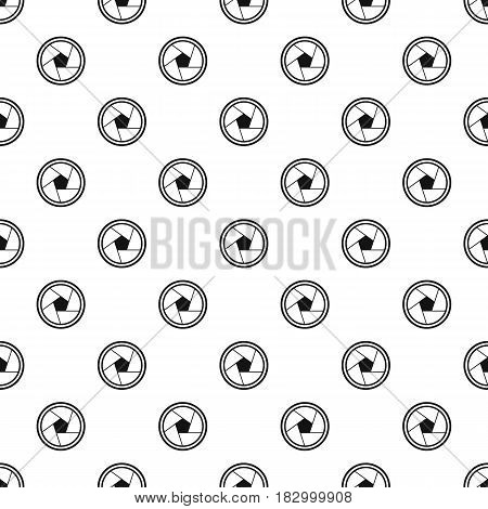 Photo objective pattern seamless in simple style vector illustration
