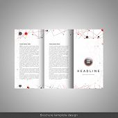 Corporate trifold brochure template design. Stock vector. poster
