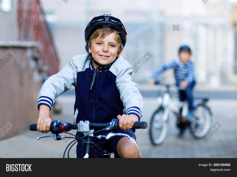 Two School Kid Boys Image Photo Free Trial Bigstock