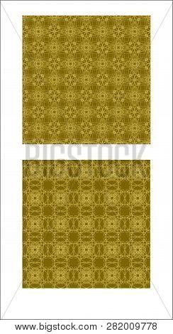 Seamless Gold Brocade Vintage Ornament, Filigree Textile Design, Luxurious Fabric Patterns
