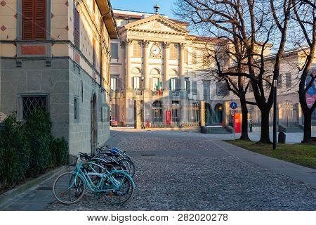 Bergamo, Italy, Jan 25, 2019 - The Accademia Carrara Is An Art Gallery And An Academy Of Fine Arts I