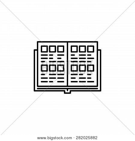 Yearbook, Photo Icon. Element Of Education Illustration. Signs And Symbols Can Be Used For Web, Logo