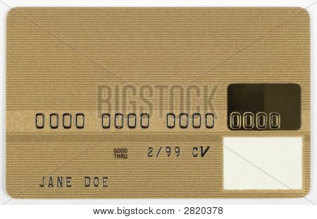 Gold Credit Card.
