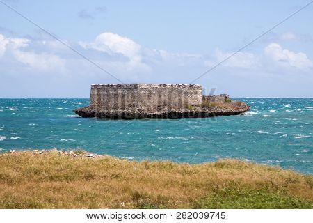 Fortim De Sao Lourenco Da Ilha De Mocambique. Sao Lourenco Blockhouse. San Lorenzo Island And Fort N