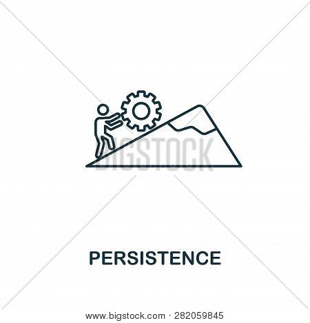 Persistence Icon. Thin Outline Creativepersistence Design From Soft Skills Collection. Web Design, A