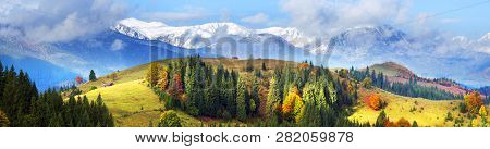 Autumn And Winter In The Mountains