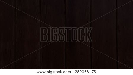 Black Wooden Texture Background, Dark Oak Of Weathered Distressed Washed Wood With Faded Varnish Pai