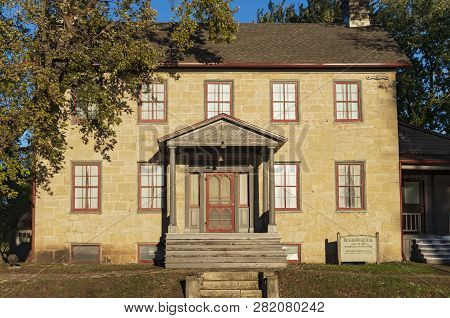 Prairie Du Chien, Wi/usa -october 20, 2018: Landmark Brisbois House Is One Of The Oldest Standing St