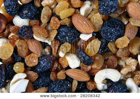 Musli - Mixed nuts raisins and dried fruit poster