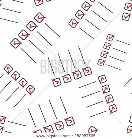 To Do List Seamless Pattern Background. Business Flat Vector Illustration. Checklist, Task List Symb