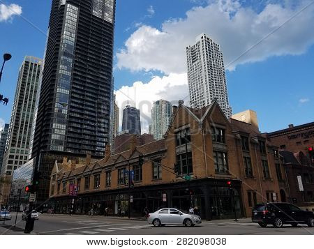 Tree Studio Building And Annexes, Artist Colony With The John Hancock Center In The Background Under
