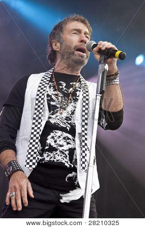 CLARK, NJ - Eylül 17: Şarkıcı/söz yazarı Paul Rodgers Union County Music Fest Septe tarih itibariyle performans sergiliyor