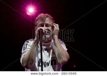 CLARK, NJ - SEPT 18:  Lead singer Southside Johnny of the band Southside Johnny & The Asbury Jukes performs at the Union County Music Fest on September 18, 2011 in Clark, NJ.