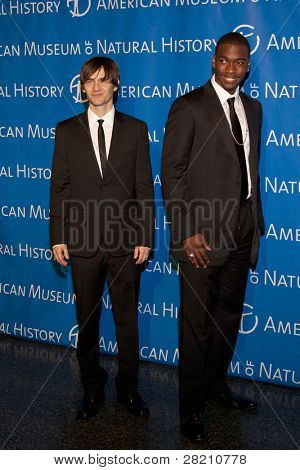 NEW YORK - NOV 10: Saturday Night Live cast members Paul Brittain and Jay Pharoah attend the American Museum of Natural History's  2011 Gala on November 10, 2011 in New York City, NY.