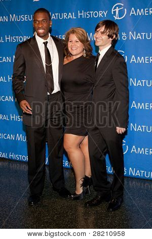 NEW YORK - NOV 10: Jay Pharoah, unidentified, and Paul Brittain attends the American Museum of Natural History's  2011 Gala on November 10, 2011 in New York City, NY.