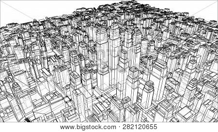 Wire-frame City, Vector & Photo (Free Trial) | Bigstock