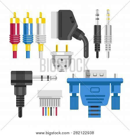 Cable And Connector Adapter And Plug Technology Devices Connection
