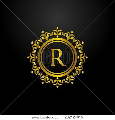 Luxury Logo, Letter R Logo, Classic And Elegant Logo Designs For Industry And Business, Interior Log