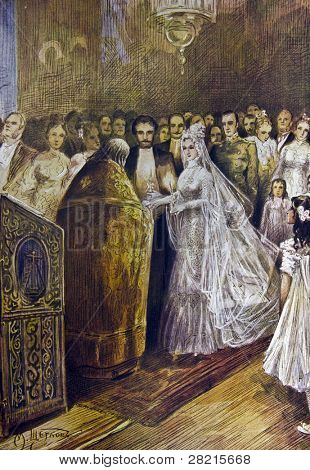 Wedding - llustration by M. Shcheglov,