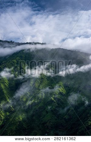 Mountain In The Cloud And Fog, Himachal