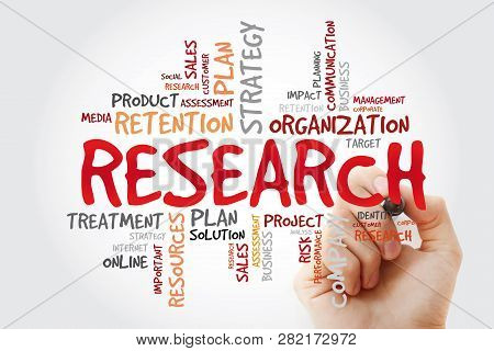 Research Word Cloud Collage With Marker, Business Concept Background
