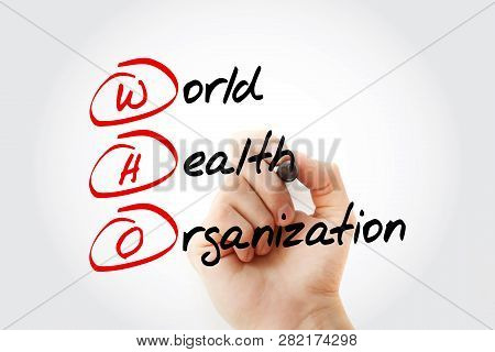 Who - World Health Organization Acronym With Marker, Concept Background