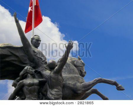 Ataturk Statue In Antalya