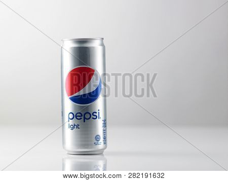 Kuala Lumpur Malaysia -Sept 15 2018,: pepsi light ,Pepsi is a carbonated drink first introduced in 1893 as Brad's Drink and renamed to Pepsi-Cola in 1898 and shortened to Pepsi in 1961