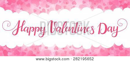 Romantic Background For Valentines Day. Illustration In Vector. You Can Use For Greeting Cards, Post