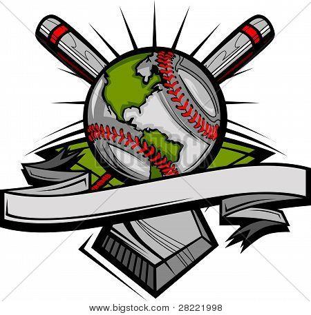 Global Baseball Vector Image Template