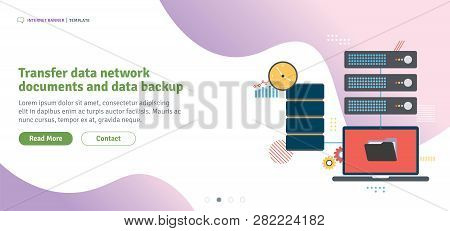 Transfer Data Network Documents And Data Backup. File Sharing,  Shared Data And Documents.template I