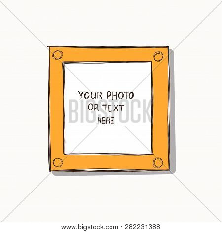 Cartoon Art Styles. Decorative Comic Vector Template Frame. This Photo Frames You Can Use For Kids P