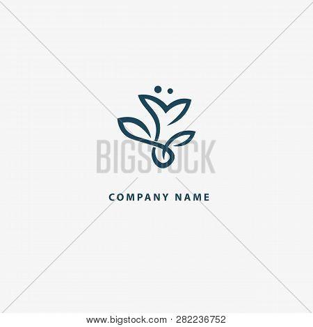 Abstract Flower Store Logo Icon Vector Design. Cosmetics, Spa, Beauty Salon Decoration Boutique Vect