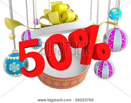 Christmas Gift Fifty Percent Discount