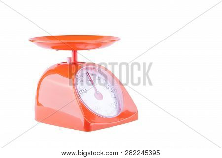 Tools,bakery,weighing Scales,scales,orange,red,scale,kitchen,weight,isolated,white,balance,food,back