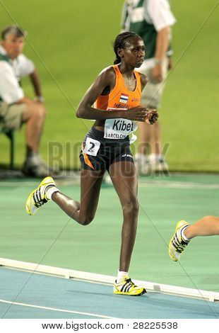 BARCELONA, SPAIN - JULY 28: Hilda Kibet of Netherlands competes on the Women 10000m final during the 20th European Athletics Championships at the Olympic Stadium on July 28, 2010 in Barcelona, Spain