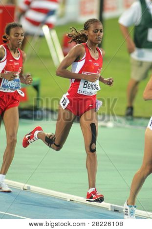 BARCELONA - AUG 1: Alemitu Bekele of Turkey during 5000m women Final of the 20th European Athletics Championships at the Olympic Stadium on August 1, 2010 in Barcelona, Spain