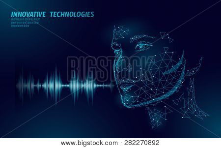 Virtual Assistant Voice Recognition Service Technology Business Concept. Ai Artificial Intelligence