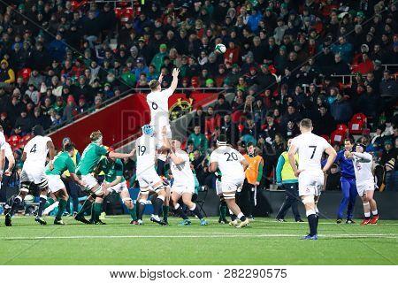 February 1st, 2019, Cork, Ireland: Under 20 Six Nations Match Between Ireland And England At The Iri