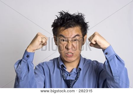angry asian adult poster