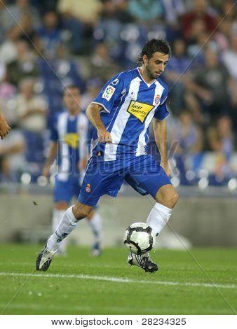 BARCELONA, SPAIN - SEPTEMBER 24: Argentinian player Nico Pareja in action during a match against Malaga CF at the Estadi Cornella-El Prat on September 24, 2009 in Barcelona, Spain.