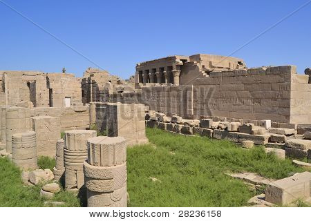 Remains Of The Temple Of Dendera