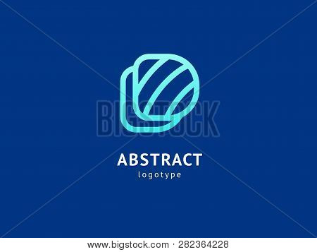 Monogram Design Elements, Graceful Template. Calligraphic Elegant Logo Design. D Logo Line Art Monog